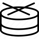 audio, beat, creative, drum, grid, music, play, shape, sound icon