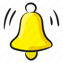 alarm bell, bell, hand bell, school bell, temple bell icon