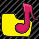 archive, binder, document, file, folder, music folder icon