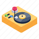 music player, vinyl player, disc player, vintage player, turntable