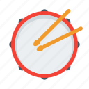drum, instrument, music, musical, percussion, sound icon