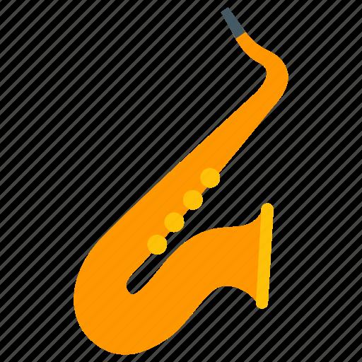 blues, brass, instrument, jazz, music, saxophone, sound icon