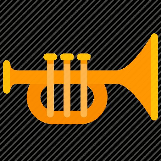 brass, instrument, jazz, music, trumpet icon