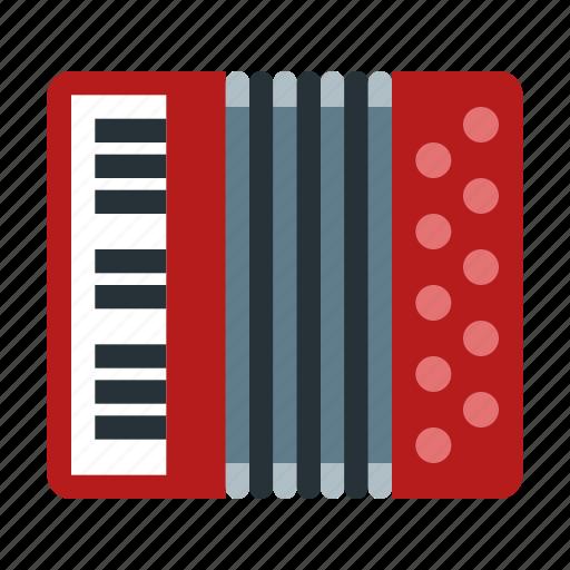 accordion, harmonic, instrument, music, musical, sound icon