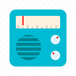 antenna, music, radio, signal, wireless icon