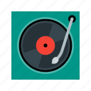 music, player, sound, turntable, vinyl icon