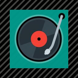 music, player, sound, turntable, vinyl icon