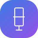 mic, microphone, music, purple, record, sound, voice icon