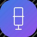 mic, microphone, music, purple, record, sound, voice
