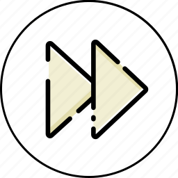 arrow, down, left, music, next, right, up icon