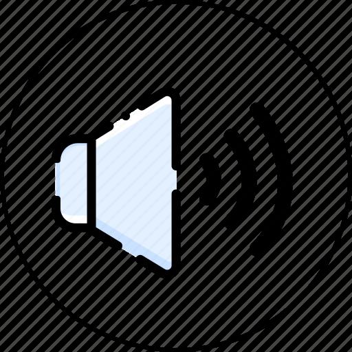 audio, media, multimedia, music, sound, speaker icon