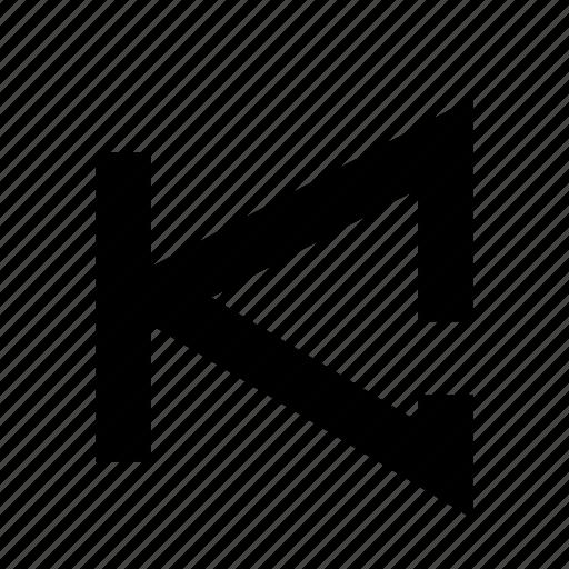 backward, music, sound, step icon