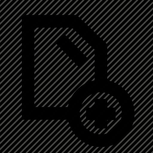 add, addfile, music, sound icon