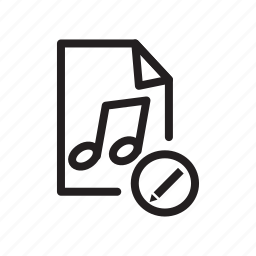 edit, music, rename, setting, song, write icon