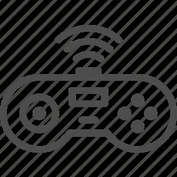 controller, entertainment, game, joystick, music, wireless icon