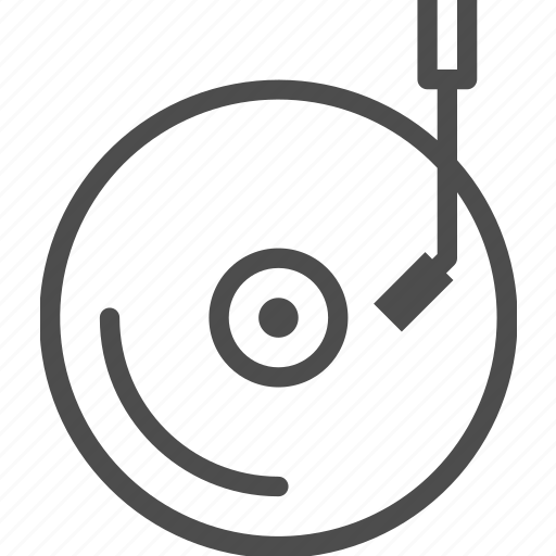 disk, entertainment, music, player, turntable, vinyl icon