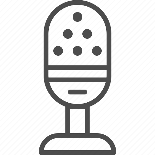 entertainment, microphone, music, record, sing, sound, talk icon