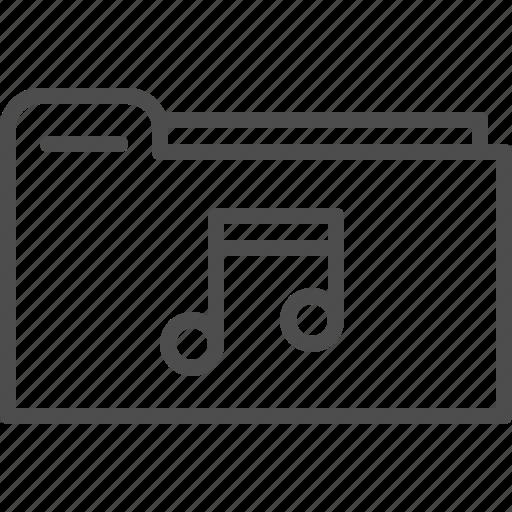 entertainment, file, folder, music, storage icon