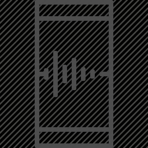 entertainment, music, smartphone, sound, voice icon