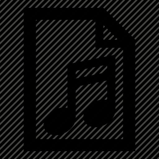 audio file, file, melody, midi, music, music notes, sound icon