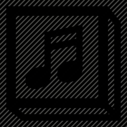 album, audio, music, music album, music box, music note icon