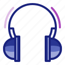 headphone, headset, mp3, multimedia, music, player icon