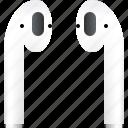 airpods, apple, audio, headphones, music, sound, wireless