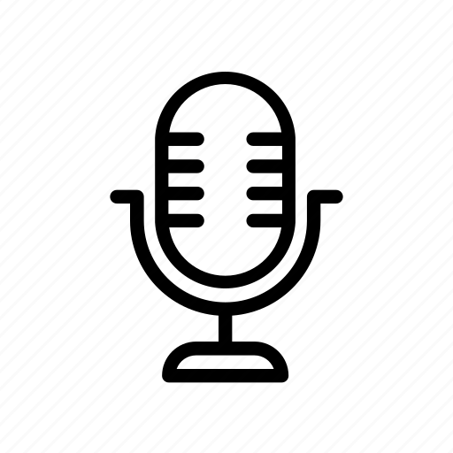 line, microphone, music, sound, speaker, ui, web icon