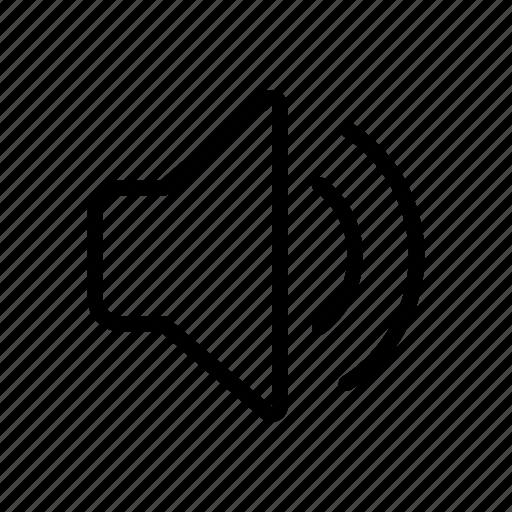 line, loudspeaker, music, sound, speaker, ui, web icon