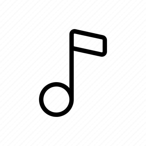 line, music, note, sound, ui, web icon