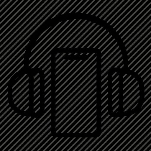 headphone, mobile phone, music, sound, telephone, ui, web icon
