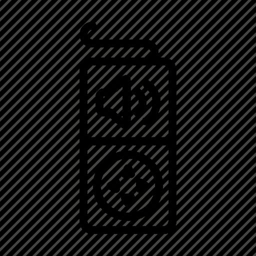 music, player, speaker, ui, volume, watch, web icon