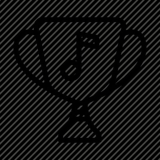 award, music, note, sound, ui, web, winner icon