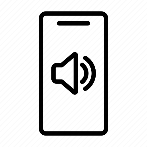 loudspeaker, mobile phone, music, sound, speaker, ui, volume icon