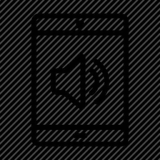 computer, mobile phone, music, speaker, ui, volume, web icon