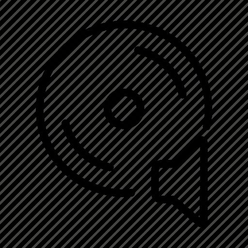 cd, line, music, sound, speaker, ui, web icon