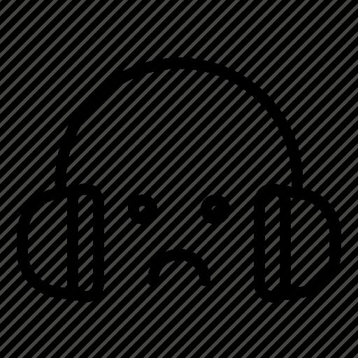 headphone, music, sad, sound, ui, volume, web icon