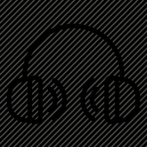 headphone, line, music, sound, ui, volume, web icon
