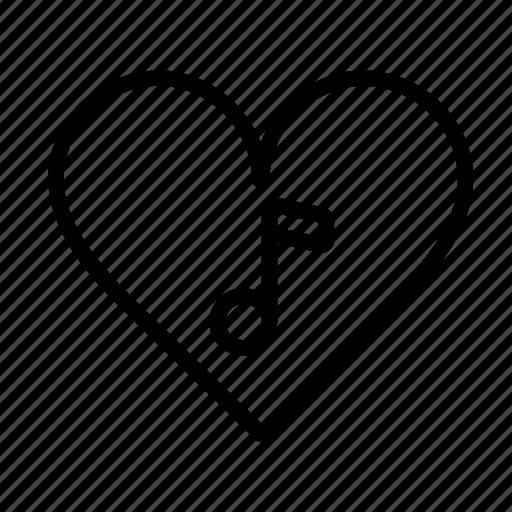 love, music, note, romantic, sound, ui, web icon