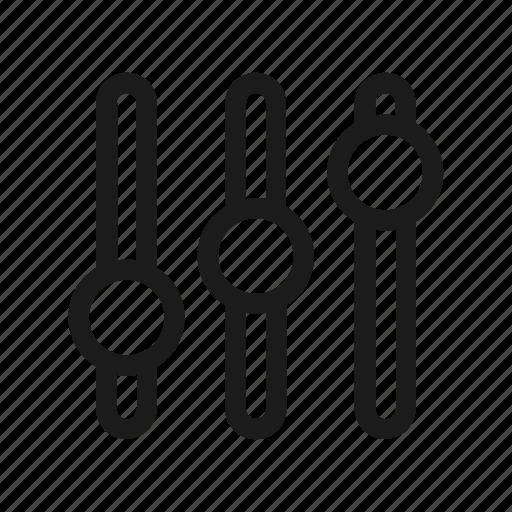 equalizer, music, sound icon