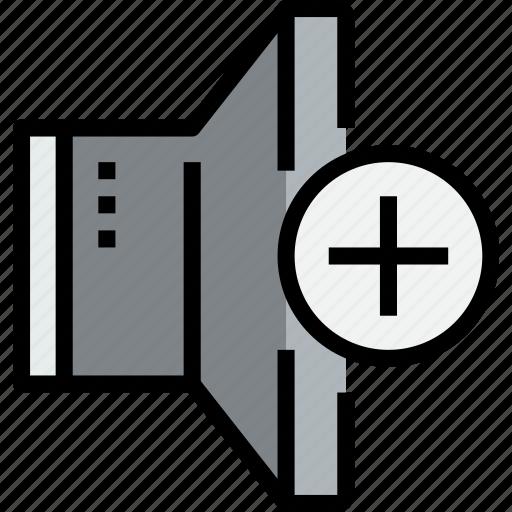 add, audio, music, musical, speaker, studio icon