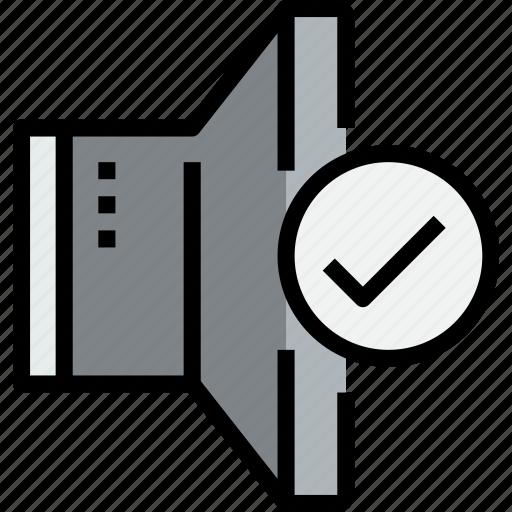 audio, check, music, musical, speaker, studio icon
