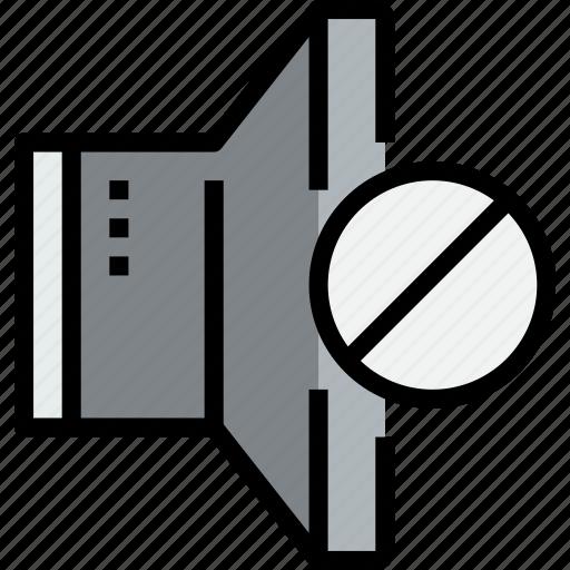 audio, error, music, musical, speaker, studio icon