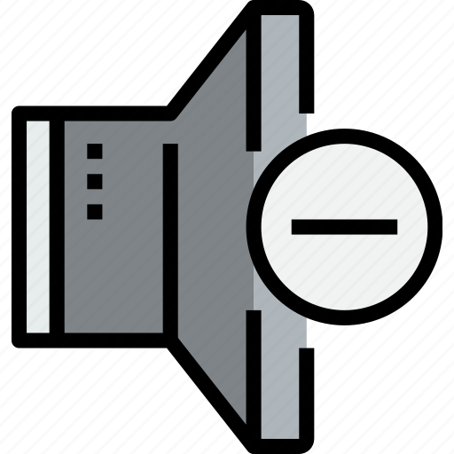 audio, music, musical, remove, speaker, studio icon