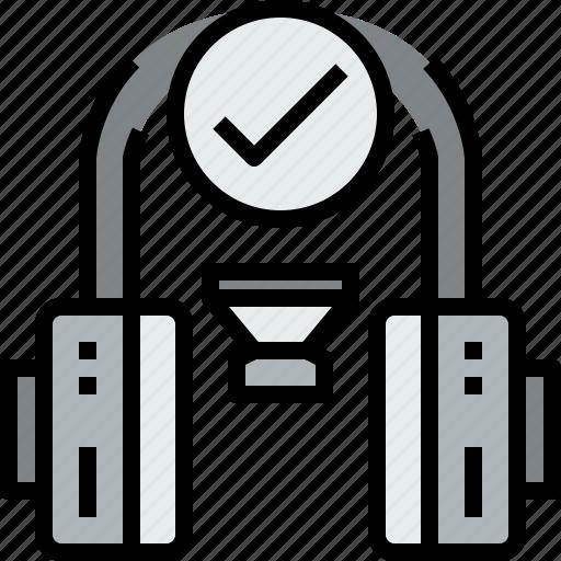 audio, check, headphone, music, musical, studio icon