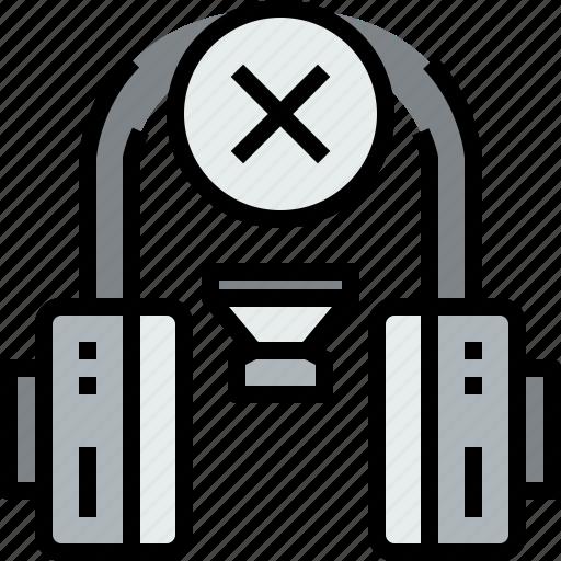 audio, headphone, music, musical, studio, x icon