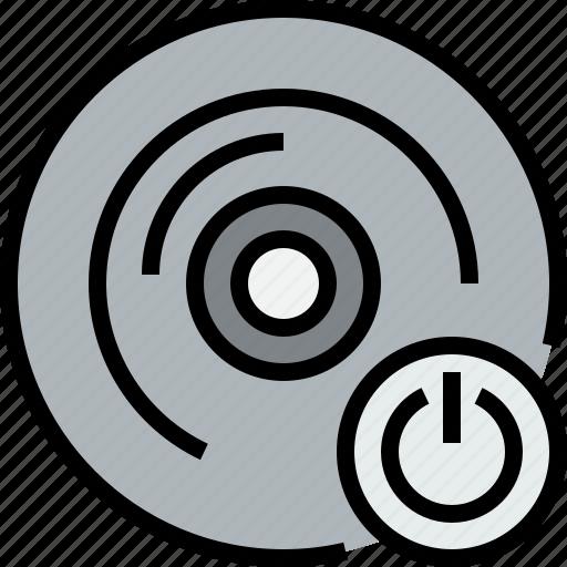 audio, cd, music, musical, power, studio icon