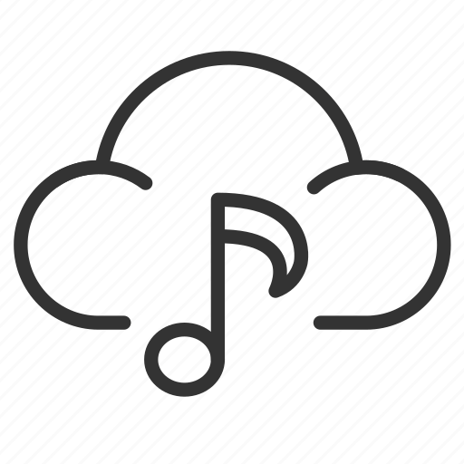 app, cloud, music, song, streaming icon