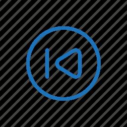 if, line, previous, skip icon