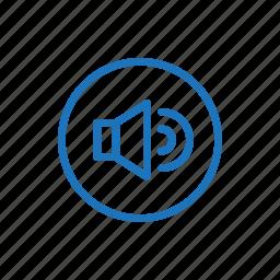 if, line, up, volume icon